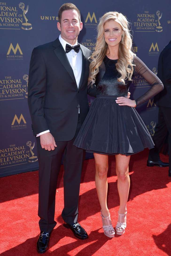 Tarek El Moussa and Christina El Moussa attend the Daytime Emmy Awards at the Pasadena Civic Auditorium in Pasadena, California, on April 30, 2017.