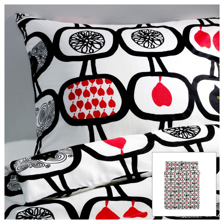 ÄNGSSKÄRA Duvet cover and pillowcase(s) - Full/Queen (Double/Queen) - IKEA; Daughter's pick wish there were other complimentary products