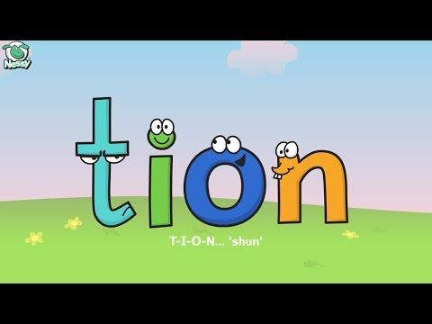 Nessy Reading: Words Ending in tion sion cian (Chapter 5) - YouTube