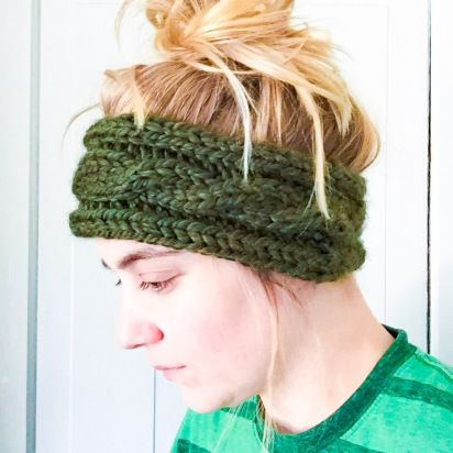 Cabled Ear Warmer, Headband. knit by SoTwisticated. Cables. Knits. Fall. Winter