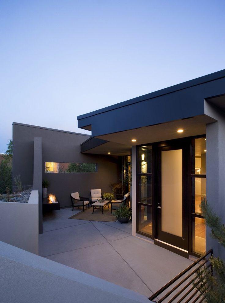 sleek and modern front door Raul Garcia