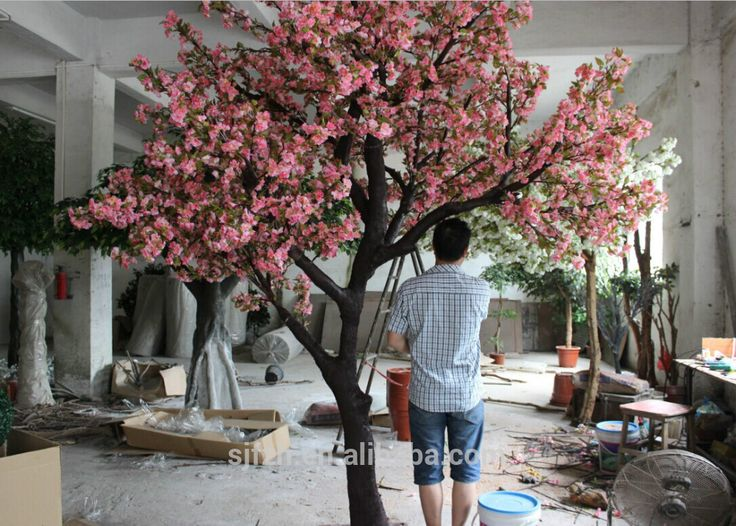 Factory supplier indoor Japanese cherry blossom sakura tree in wedding decoration silk cherry blossom trees, View artificial cherry blossom tree