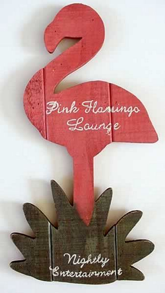 Pink Flamingo Wood Sign Quot Pink Flamingo Lounge Quot 33173