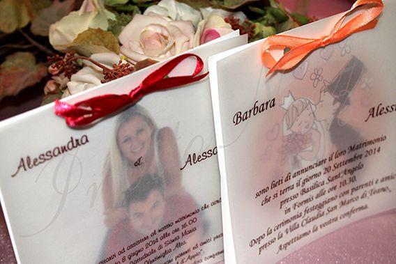 inviti personalizzati con la foto delle spose