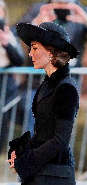 Catherine, Duchess of Cambridge attends the memorial service of the late Duke of Westminister November 2016