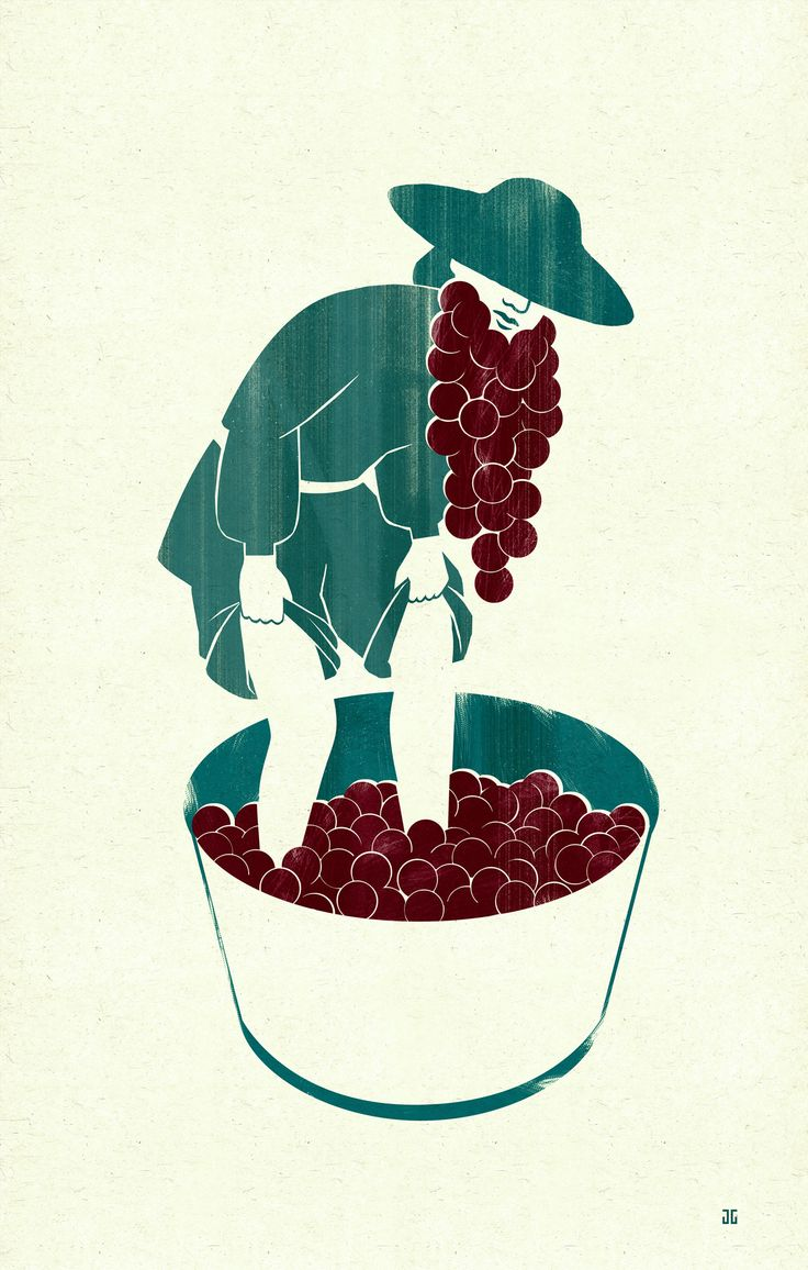 Joey Guidone - Manual treading of grapes