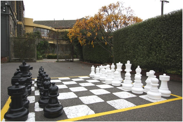 Play on the giant chess set on the grounds of WorldMark Resort Ballarat!