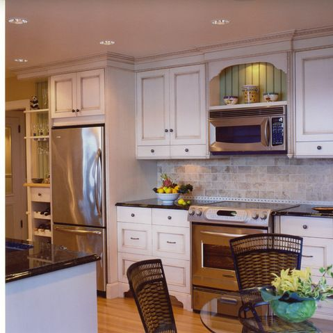 Microwave Over Stove Design Ideas, Pictures, Remodel, and Decor