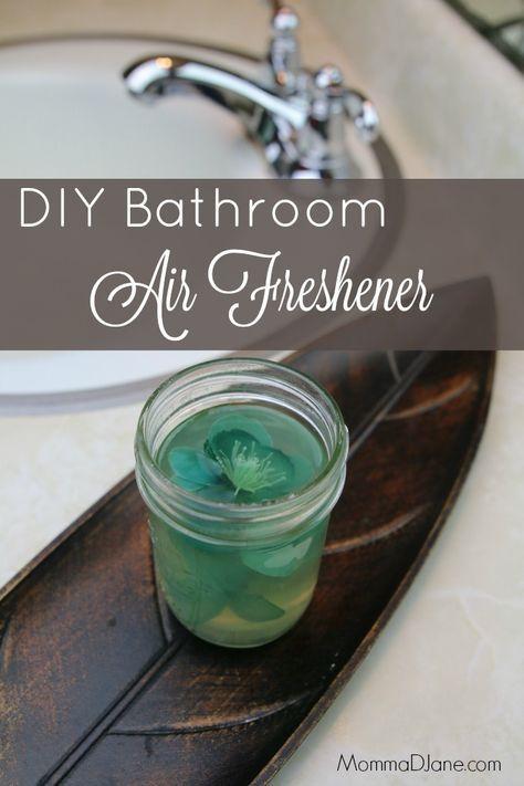 Diy bathroom air freshener made with gelatin and essential - Diy bathroom cleaner essential oils ...