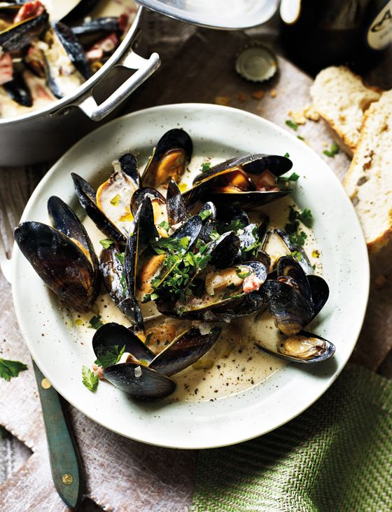 Mussels, Somerset and The sauce on Pinterest