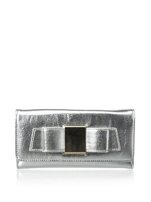 61% OFF Ivanka Trump Women's Blaire Metallic Organizer Wallet, Silver