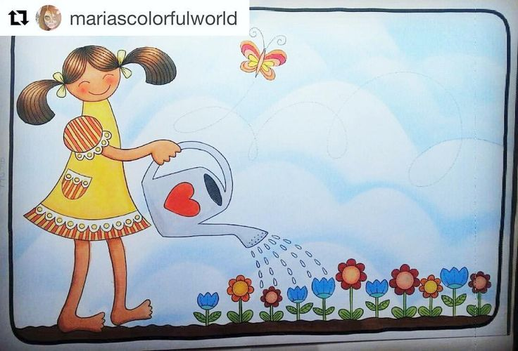 """Mental Images Coloring Books (@paivivesala_art) on Instagram: """"Happy summer time to You! 😎☀️🌺💖 Colored by talented @mariascolorfulworld Coloring book: Mental…"""""""