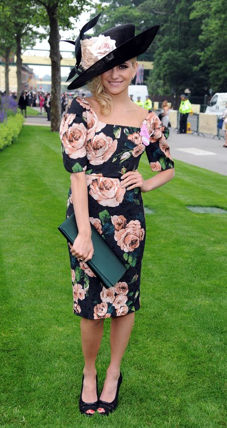 Pixie Lott donning Dolce and Gabbana for Ladies Day 2013