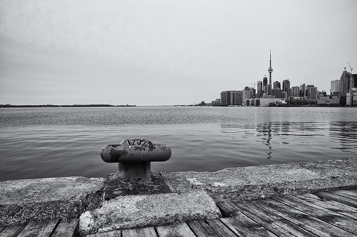 Toronto Skyline. The beautiful Toronto skyline taken from the Polson pier. This could be one of the most photographed areas in Toronto. Didn't have the best light and sky to work with, but the view was wonderful regardless.