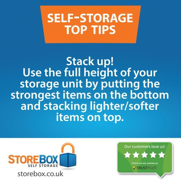 Make the most of your self storage space. storebox.co.uk