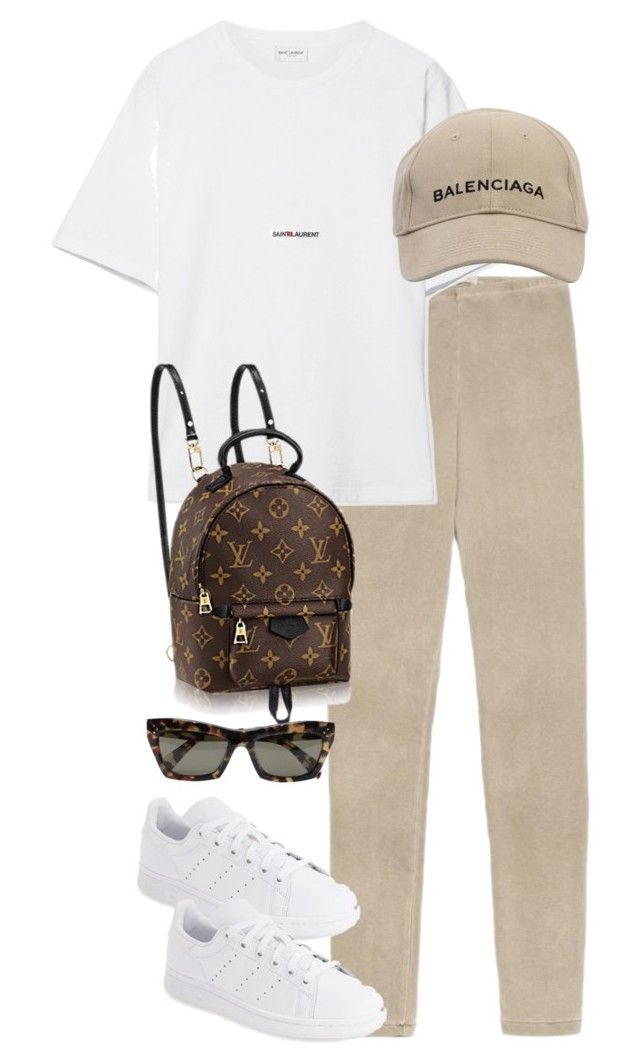"""Untitled #5229"" by theeuropeancloset on Polyvore featuring Yves Saint Laurent, Balenciaga, adidas and CÉLINE"
