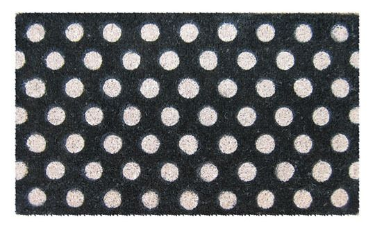 Fresh and Modern Doormats.: Polka Dots, White Polka, By Mats, Coconut Fiber, Coir Doormat, Entryway