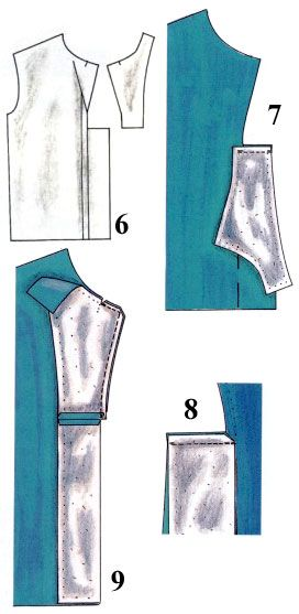 Обработка бортов изделия подбортами - facing made from part folded over, part facing