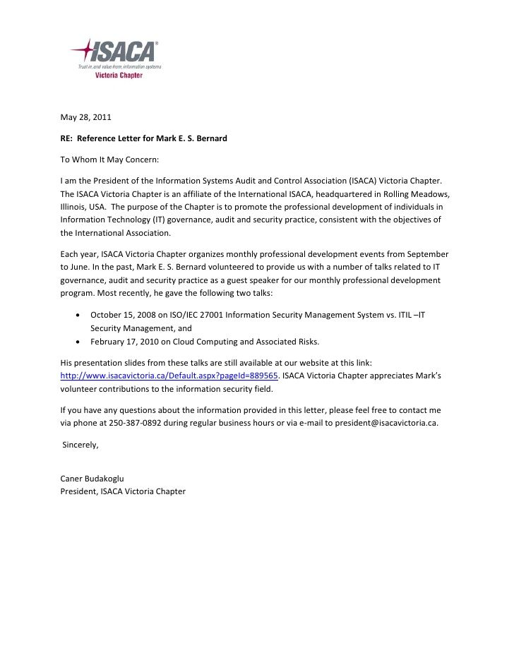 may reference letter for mark bernardto whom download the - to whom it may concern letter