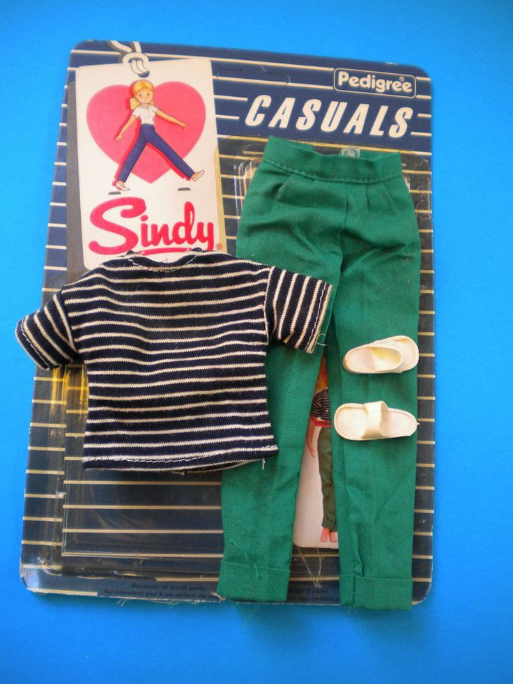 SINDY outfit T SHIRT & TROUSERS  with packet - Pedigree 1983 #Pedigree