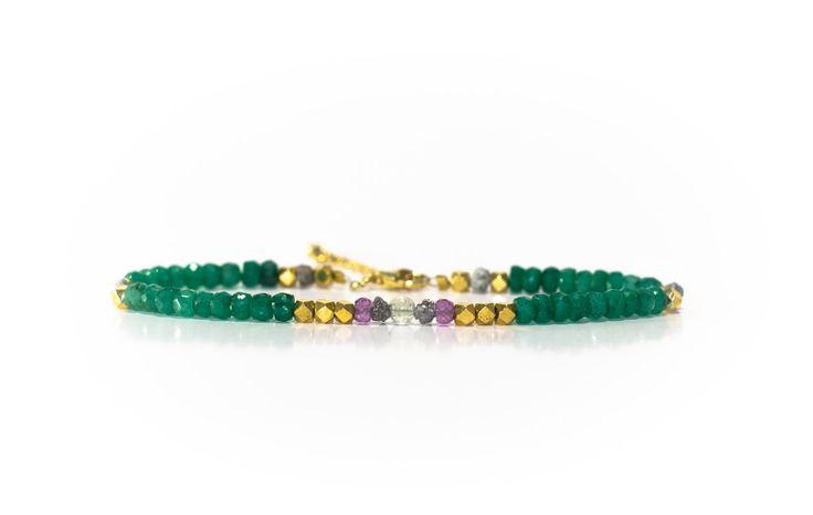 Perseids Power Bracelet; Emerald Bracelet, Meteorite Bracelet, Tektite Jewelry, Awaken to the ABUNDANCE of your higher self!