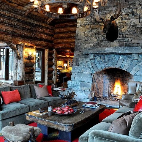 1000 ideas about hunting lodge decor on pinterest deer - Lodge living room decorating ideas ...