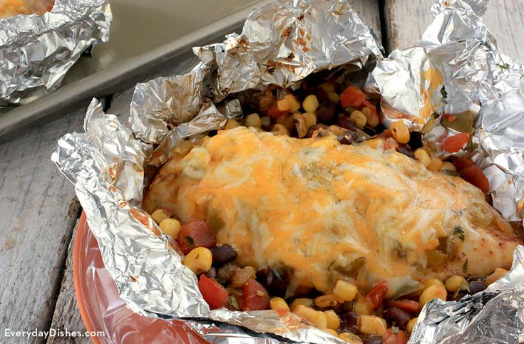Our southwestern chicken foil packet recipe seals in flavor, is easy to make and is easy to handle!