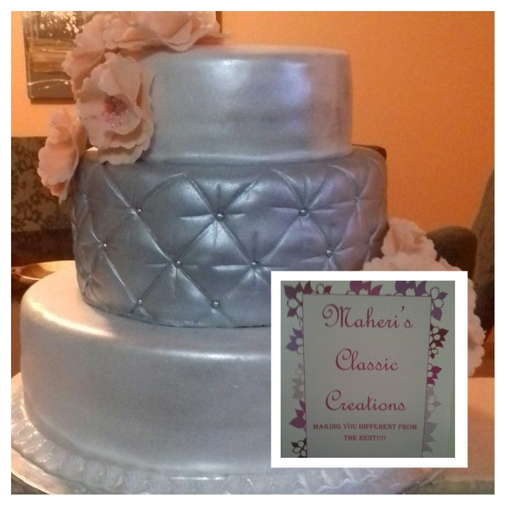 Nomvula's wedding cake.  All choc.