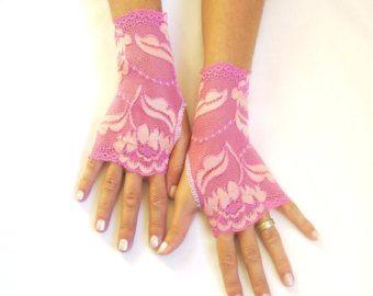 Witte lace handschoenen bruid bruiloft van GlovesByJana op Etsy