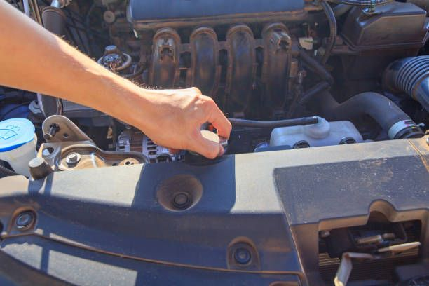 open the car radiator valve