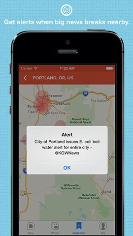 Breaking News, A News App Featuring Proximity Alerts for When a Story Breaks Near You