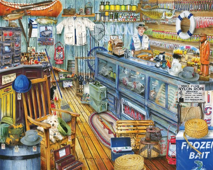 87 best jigsaw puzzles images on pinterest 1000 piece for Fish bait store