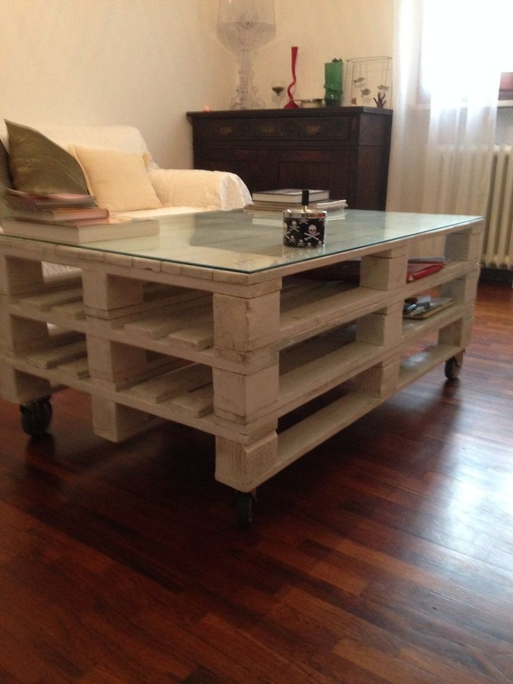 Just 3 europallets, 4 wheels and glass coverage. Most useful: the spaces between the layers Submitted by: Nicola Fusconi !