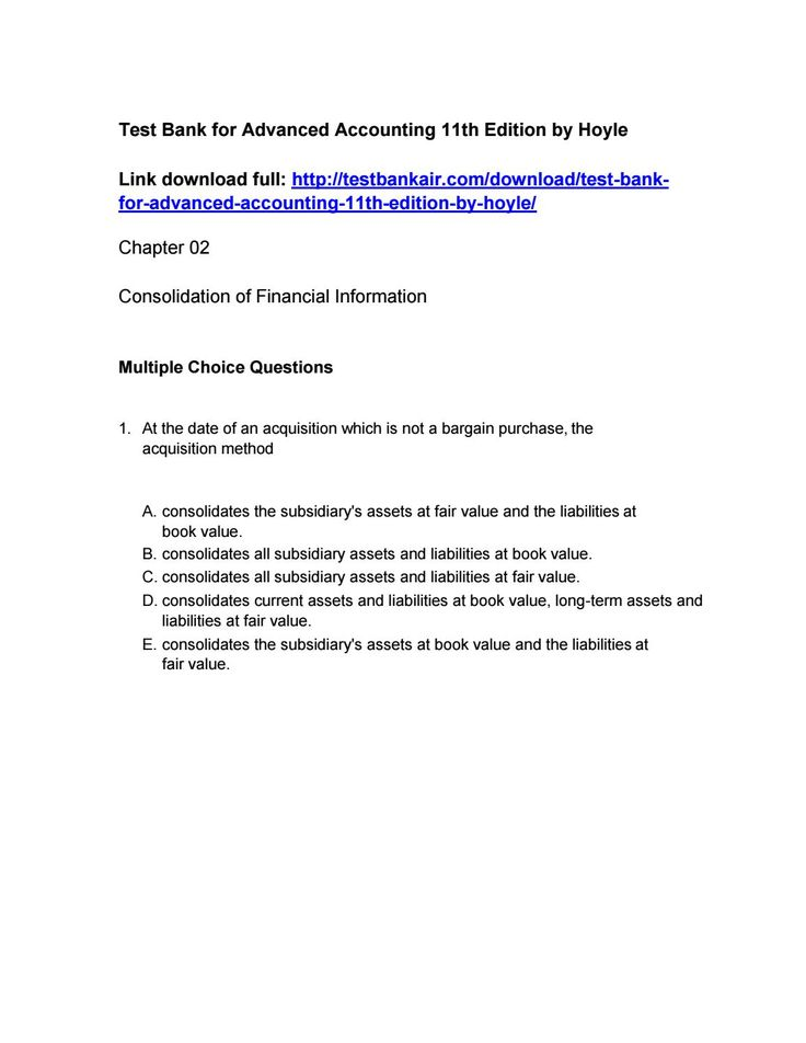 25 best test bank issuu images on pinterest advanced accounting 11th edition by hoyle test bank download fandeluxe Images
