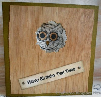 Another handmade owl card made using the new stamps from Dimension Stamps/Nina Crafts