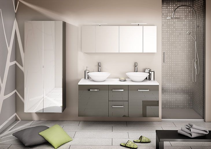 Meubles salle bains lotus de orialys discac meubles de for Decoration 25 salle de bain
