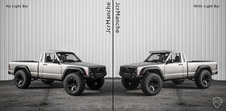 """Yesterday we posted a photo of the current progress on #JcrManche and stirred up a 50"""" light bar debate.   Here is your chance to tell us what you think. - https://jcr.us/1Xn1wug"""