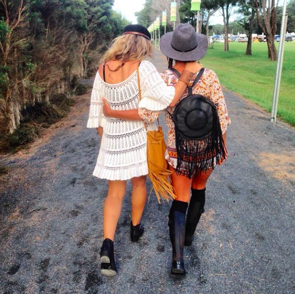 Byron Bay Blues Festival Style with our Desert Dreamer in Burnt Caramel & Juna Backpack in Midnight Black
