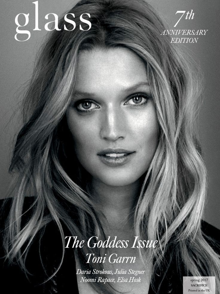 Toni Garrn on Glass Magazine Spring 2017 Cover