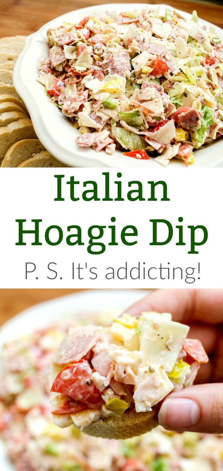 Italian Hoagie Dip Recipe - it is SO good and really easy to make! You'll get asked for the recipe everywhere you take this dip!