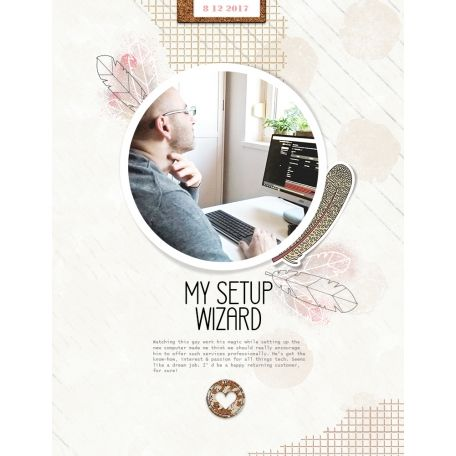 """setup wizard"" digital scrapbook layout by paddy wolf- made with marisa lerin ""winter mood"" kit available at pixelscrapper.com"