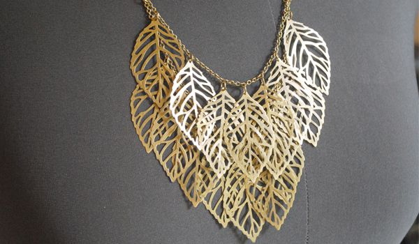 surprisingly easy layered statement necklace DIY. Take a look at the step-by-step process below: