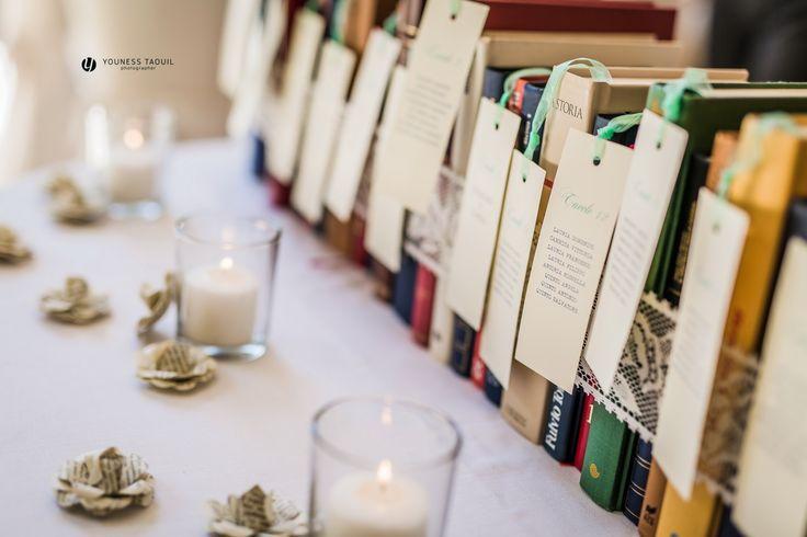 tableau mariage a tema libri, book themed seating plan