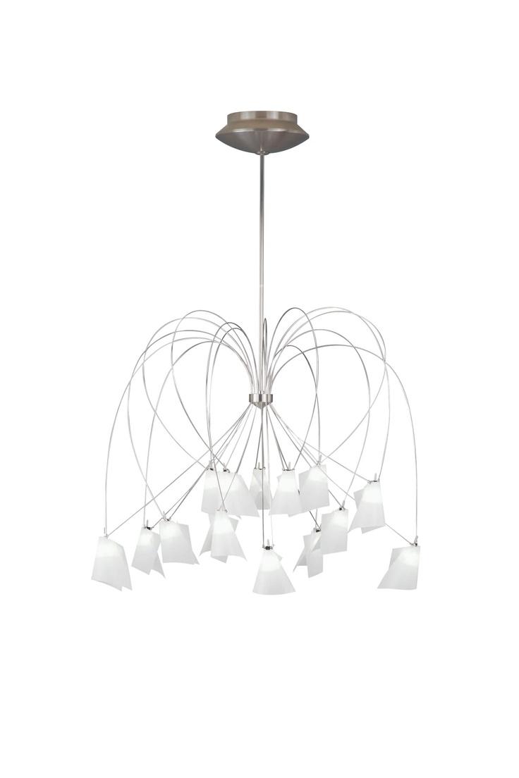 Rhapsody Chandelier by Tech Lighting. #lighting #chandelier #satinnickel #chrome #suspension  sc 1 st  Pinterest & 48 best Chandeliers and Suspension Lighting images on Pinterest ... azcodes.com