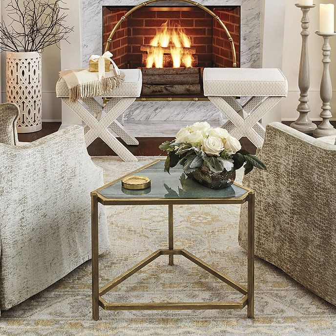 Kendall Triangle Glass Side Table Glass Side Tables Side Table Mirrored Side Tables #triangle #end #tables #for #living #room