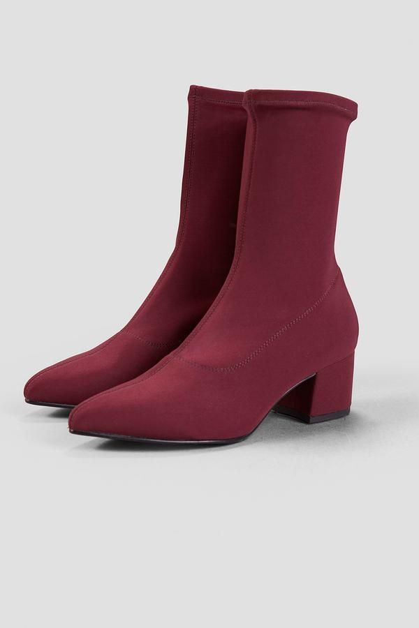 bd18de9fdb The Mya stretchy ankle boot in deep wine red is a Vagabond classic