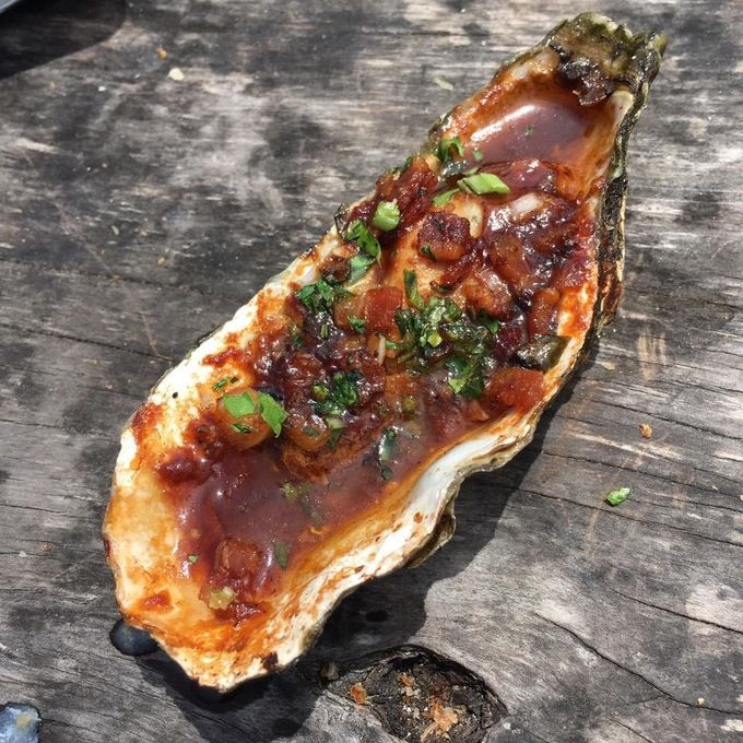 BBQ oyster...betcha never thought of this on the grill!