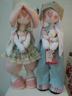Casal de coelhinhos ----Lindos!!!!