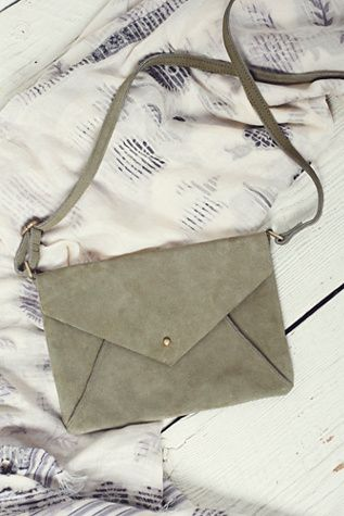 Free People Womens Delilah Suede Crossbody