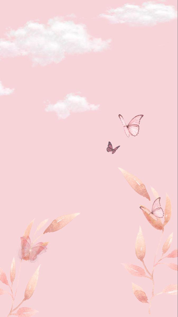 Aesthetic Pink Butterfly Wallpaper In 2020 Butterfly Wallpaper Butterfly Wallpaper Iphone Flowery Wallpaper
